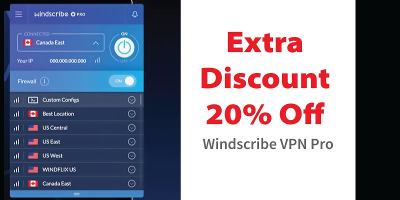 windscribe vpn pro coupon lifetime subscription