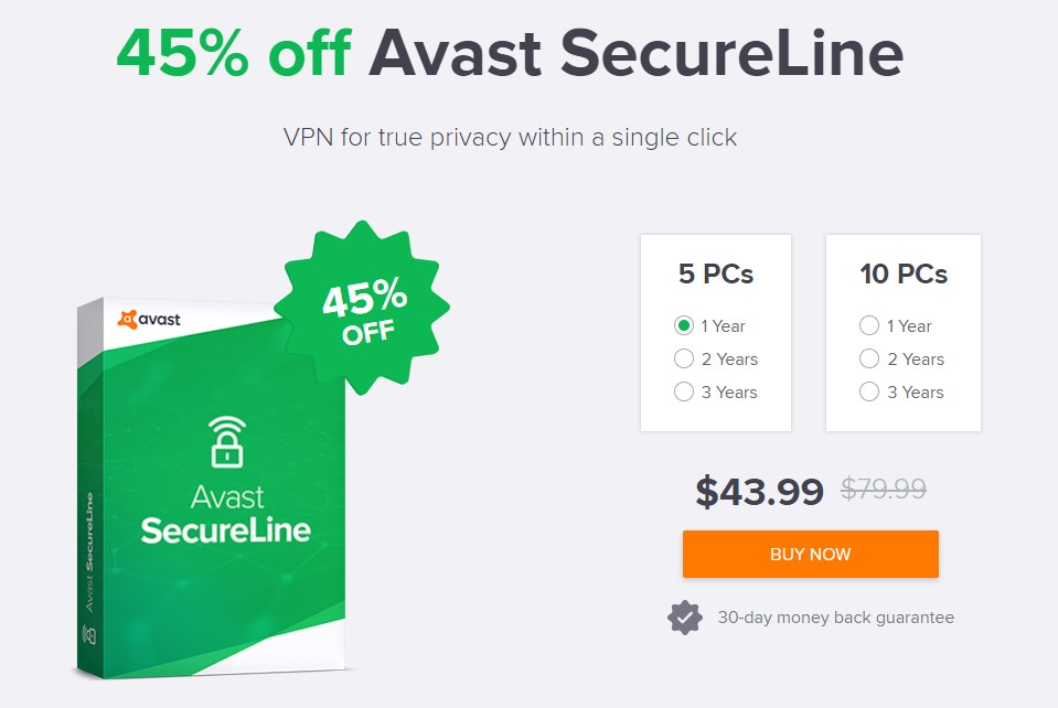 Avast Secureline VPN Xmas 2018 offers