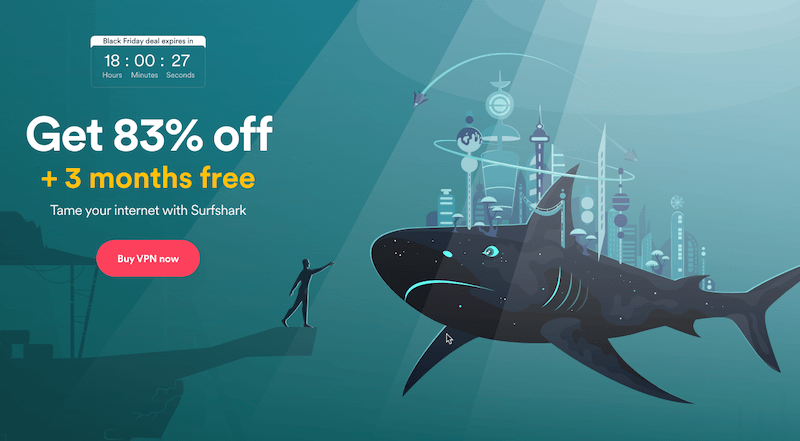 2020'S Black Friday, Surfshark 83% Off + Free 3 Months